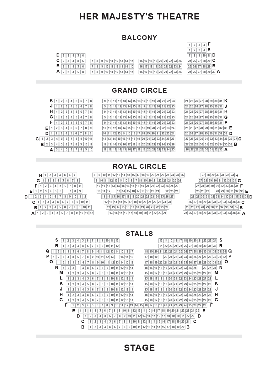 Her Majesty S Theatre Seating Plan