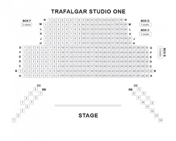Trafalgar Studio 1 seating plan