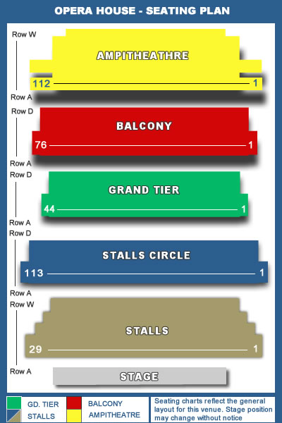Detailed Seating Plan Opera House Manchester Plans