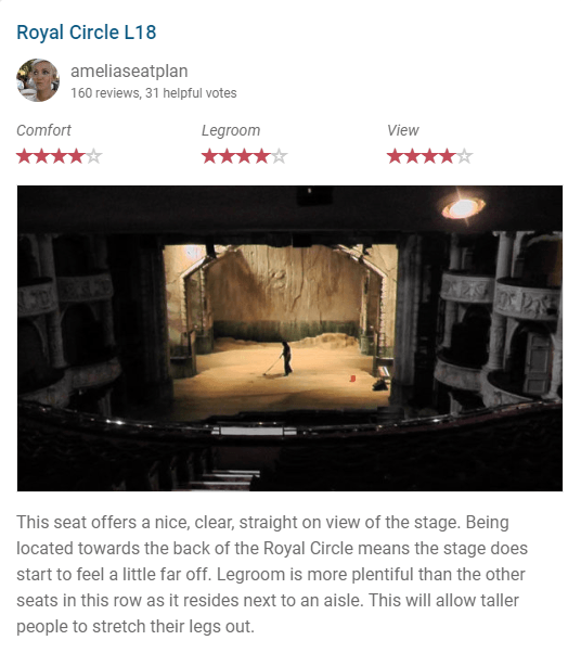 A view of the stage from the Royal Circle at the Shaftesbury Theatre, London